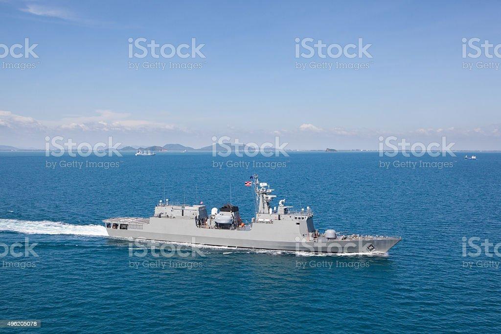 Modern Warship stock photo