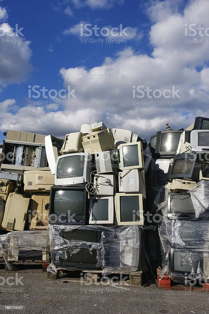 Modern waste of 80´s and 90´s royalty-free stock photo