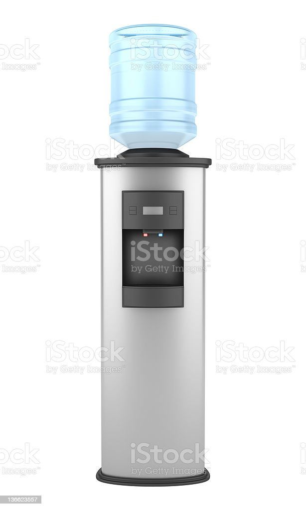 Modern water dispenser isolated on white background stock photo