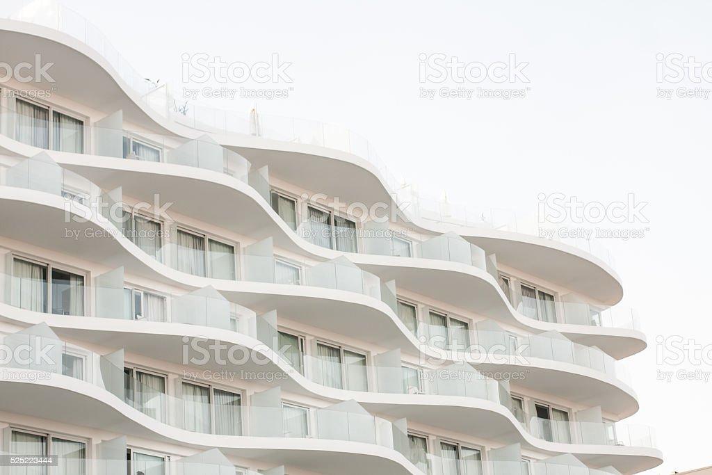 Modern Wave Balcony stock photo
