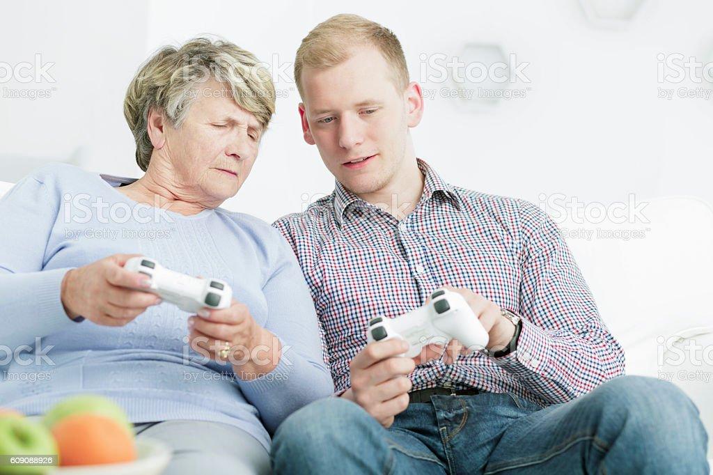 Modern way of bonding stock photo