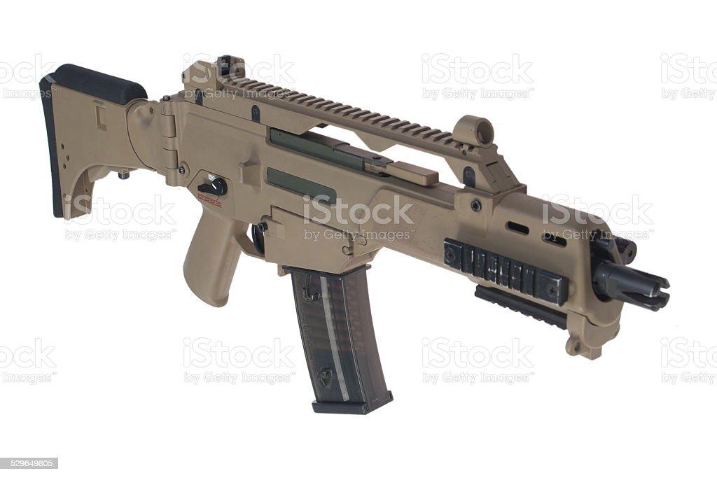 Modern weapon. German army assault rifle G36. stock photo