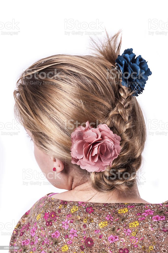 Modern weddting hairstyle royalty-free stock photo