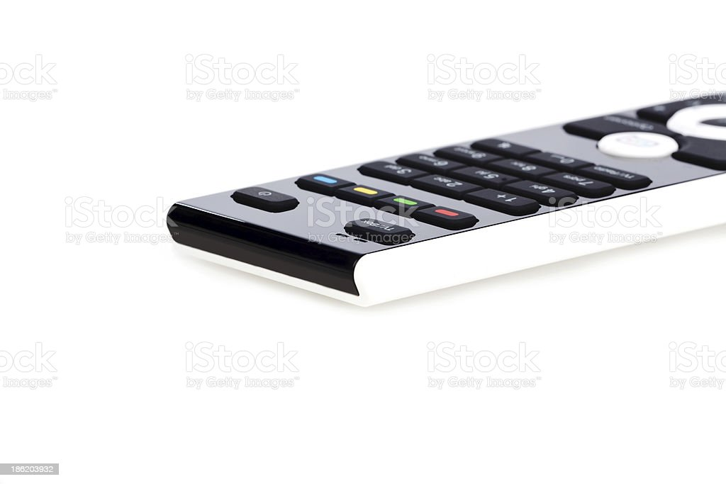 Modern white and black remote control royalty-free stock photo