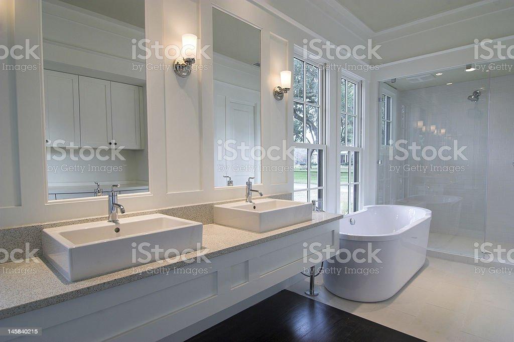 modern white bathroom stock photo