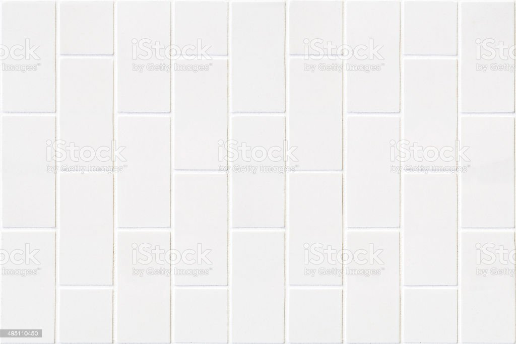 modern white bricks mosaic stock photo