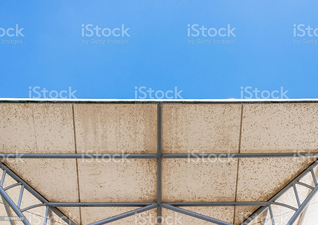 Modern white canopy stock photo