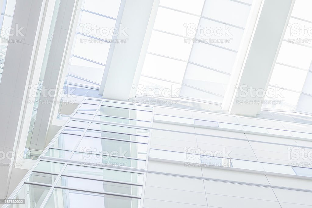 Modern white office made of glass royalty-free stock photo