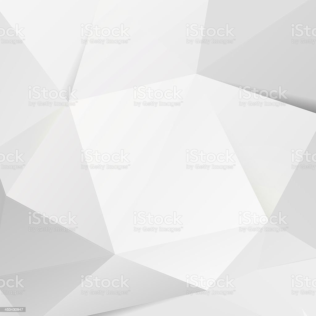 Modern white polygon background stock photo