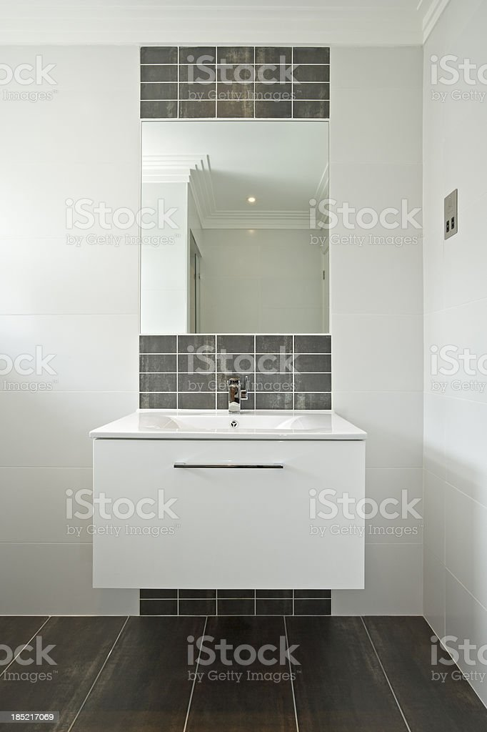 modern white wash basin stock photo
