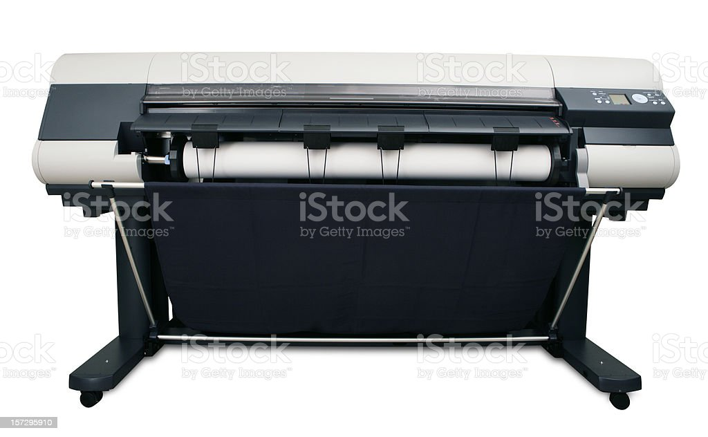 Modern Wide Format Printer stock photo
