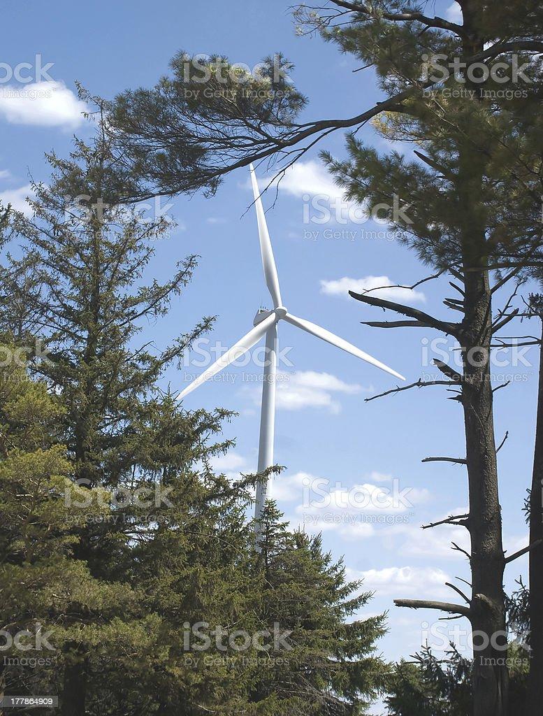 Modern windmill stock photo