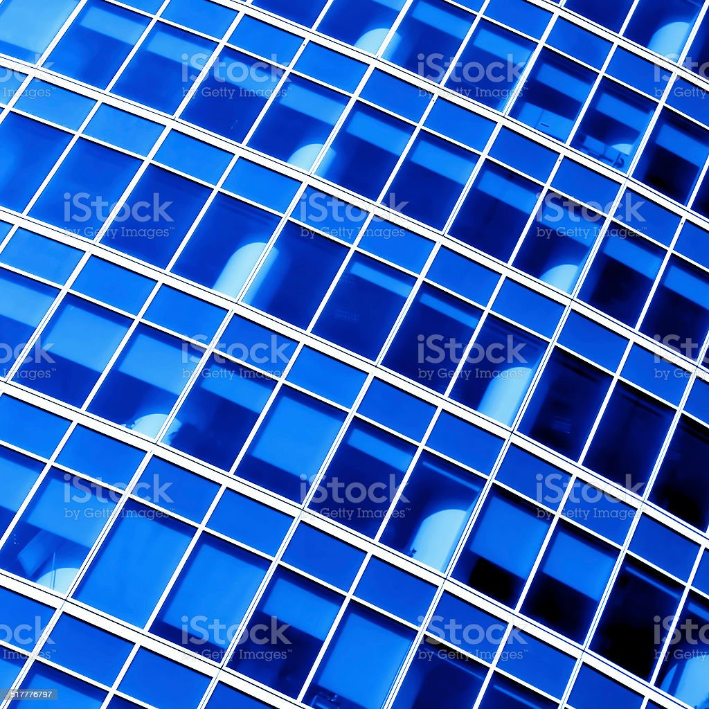 modern windows of modern office stock photo