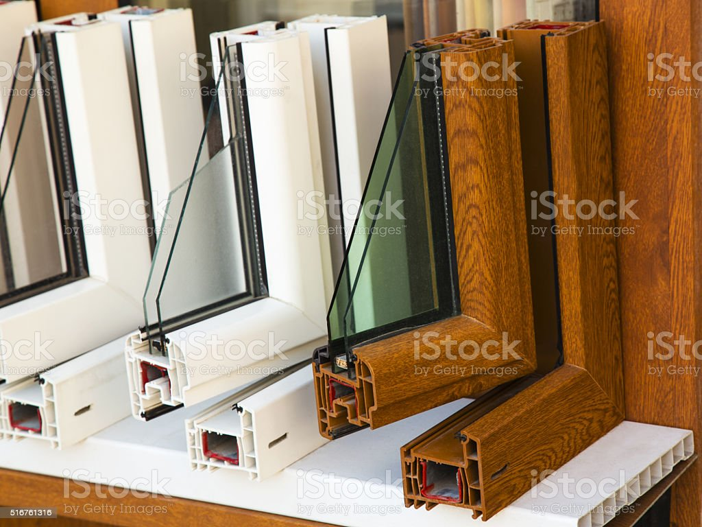 Modern windows profiles stock photo
