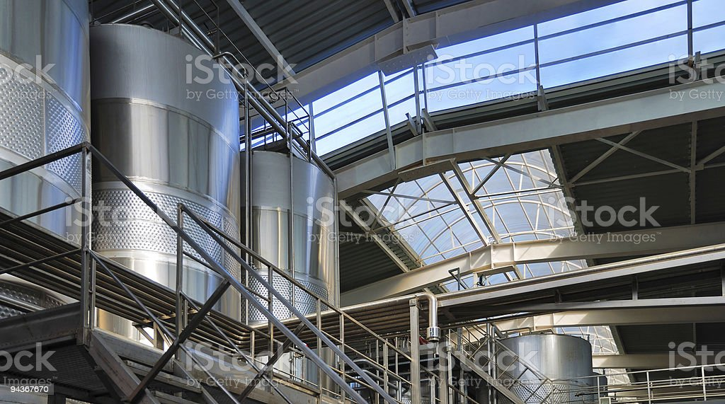 Modern winery on the inside royalty-free stock photo