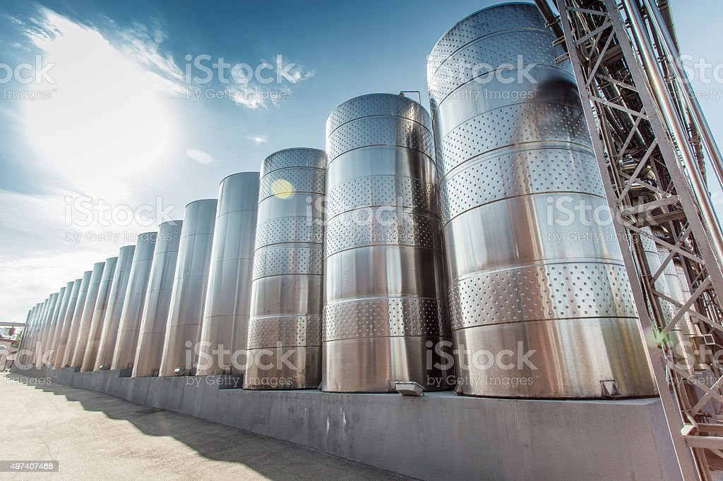 Modern winery stock photo