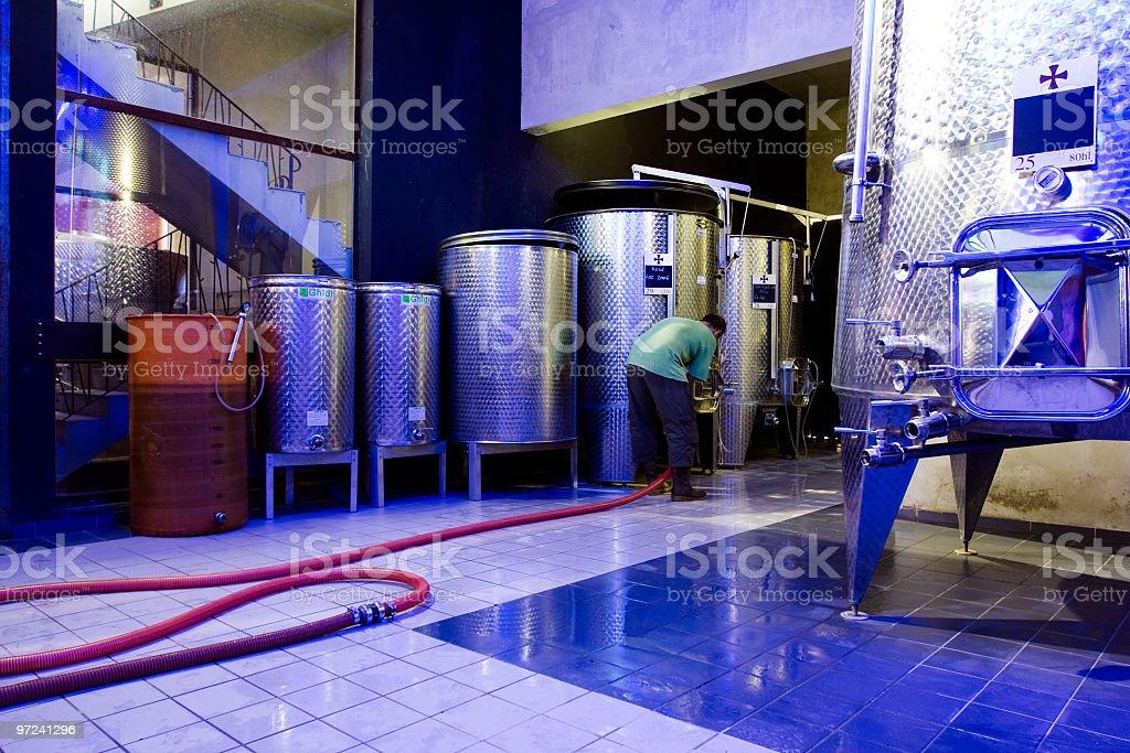 Modern winery royalty-free stock photo