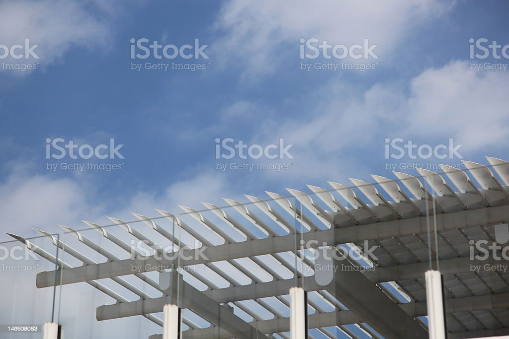 Modern Wing of the Chicago Art Institute royalty-free stock photo