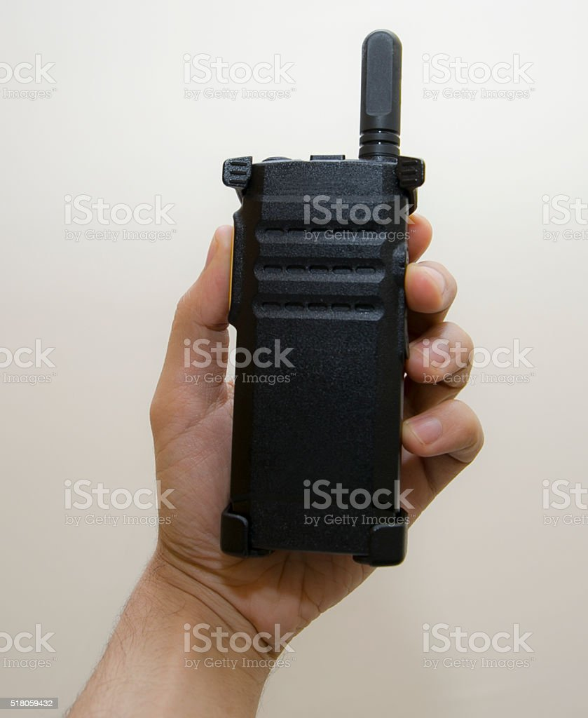 modern Wireless radio - walkie talkie stock photo
