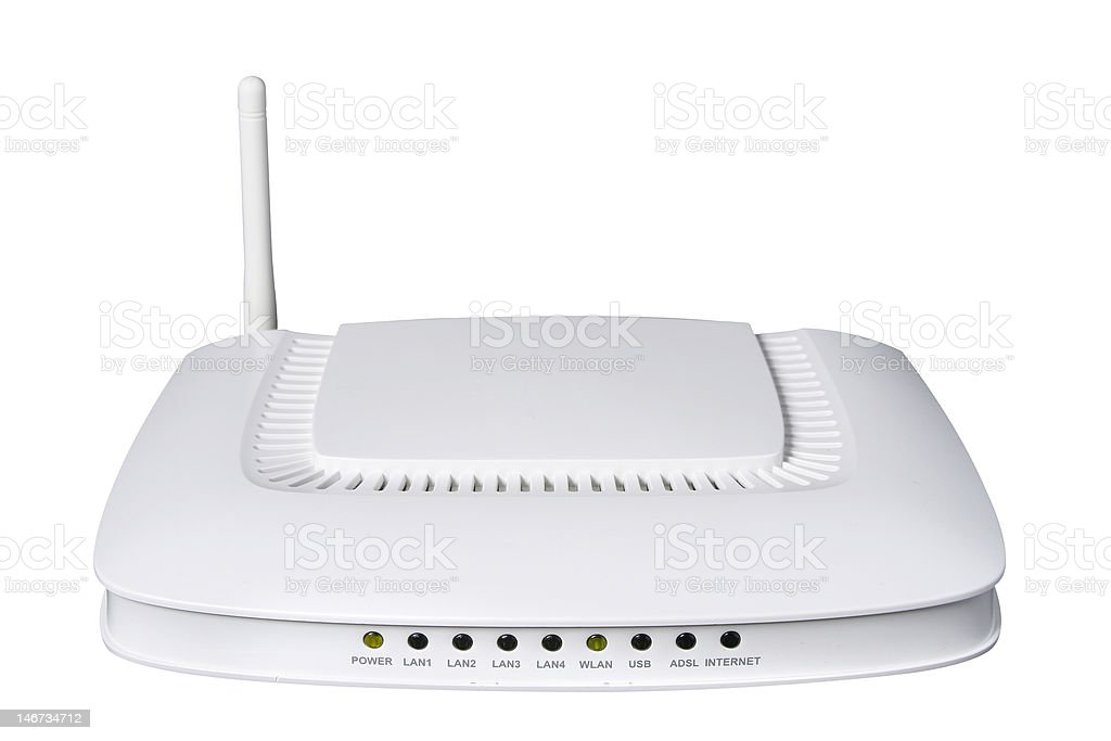 Modern wireless router royalty-free stock photo