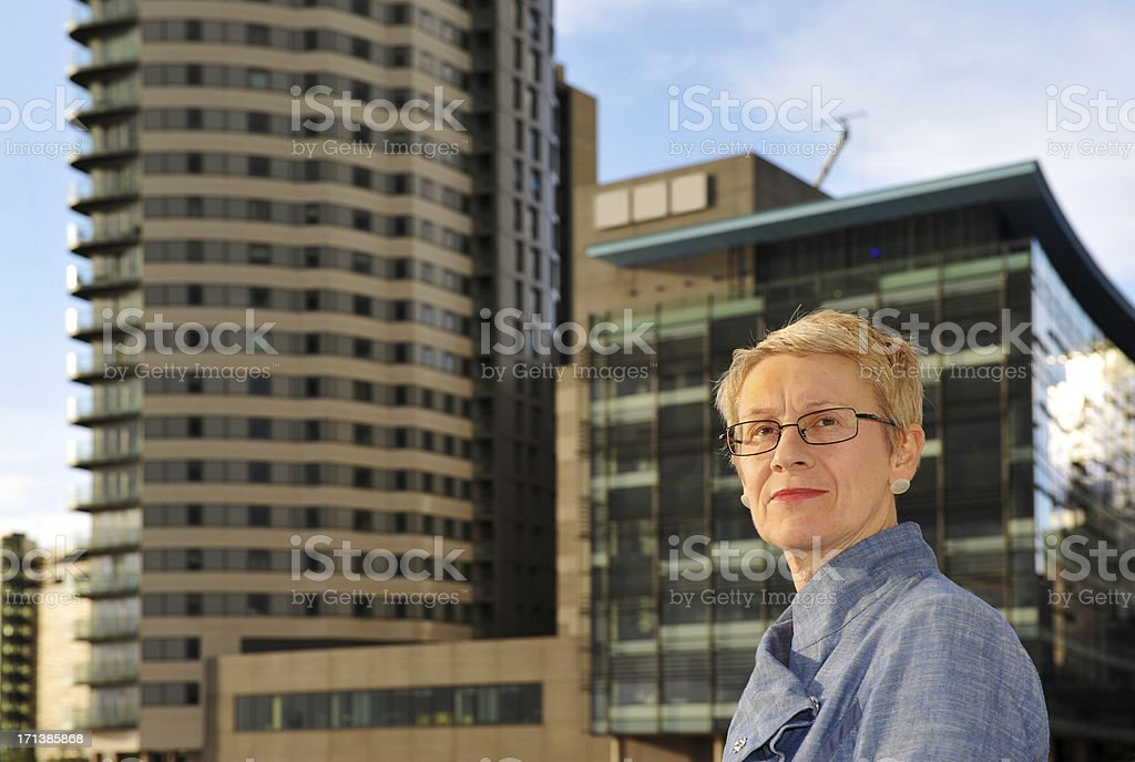Modern Woman in the City royalty-free stock photo