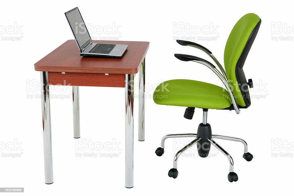 Modern work place on white royalty-free stock photo