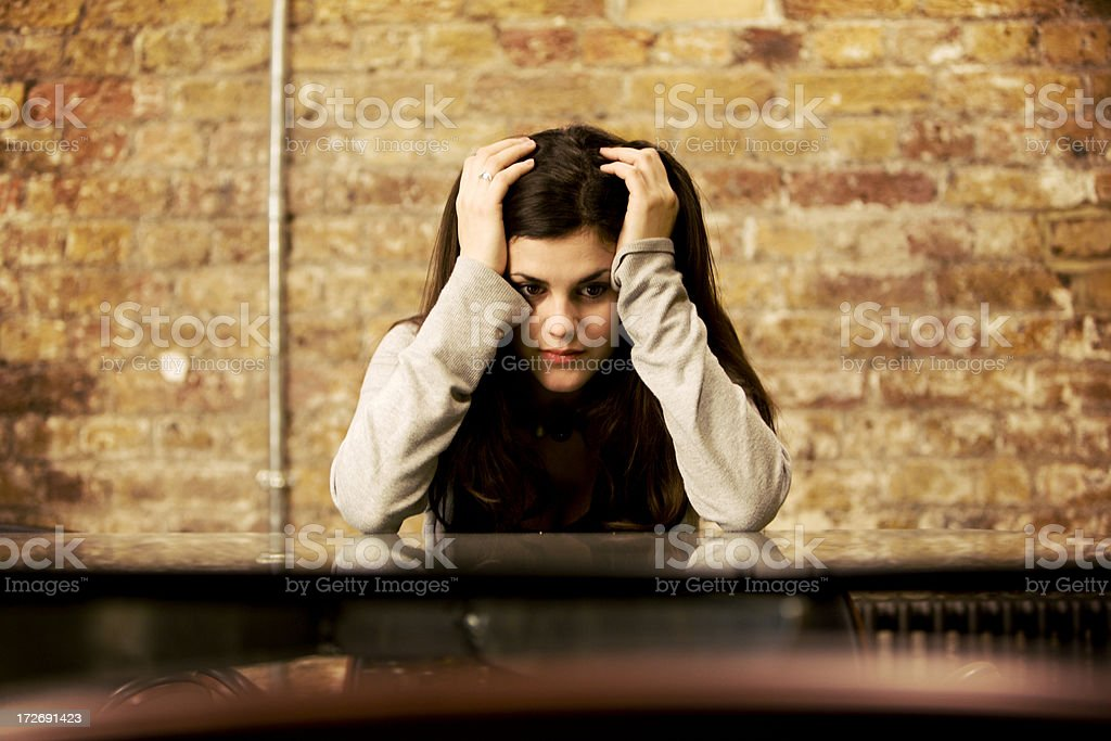 modern workplace: creative frustration stock photo