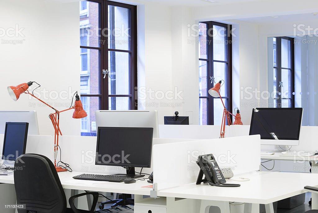 Modern Workplace Interior stock photo