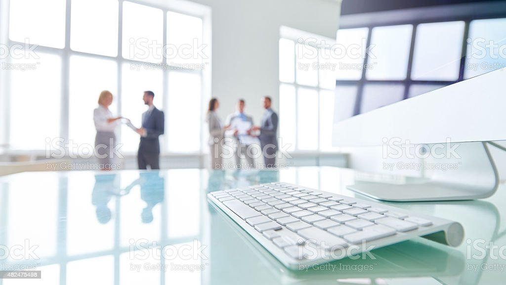 Modern workplace stock photo
