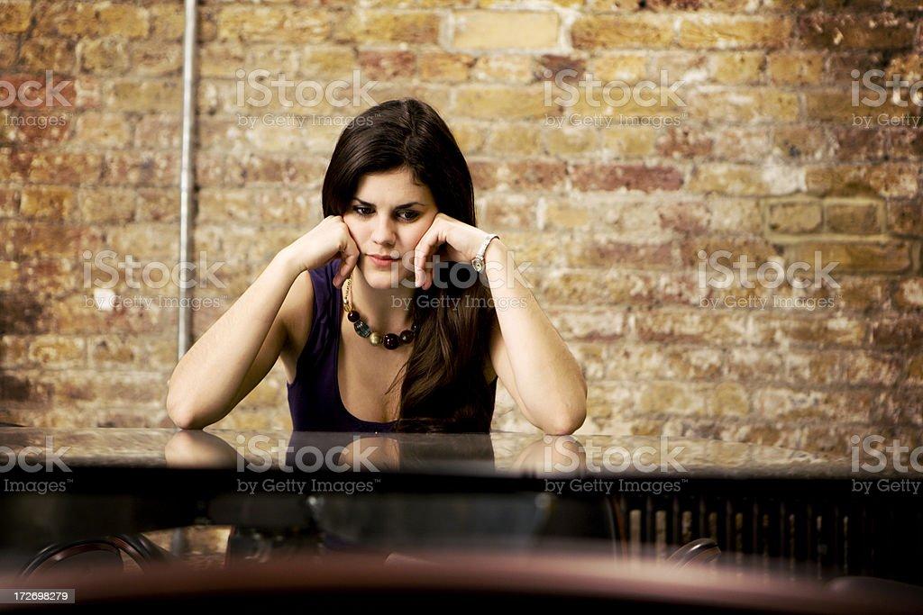 modern workplace: portrait of despair and despondancy royalty-free stock photo