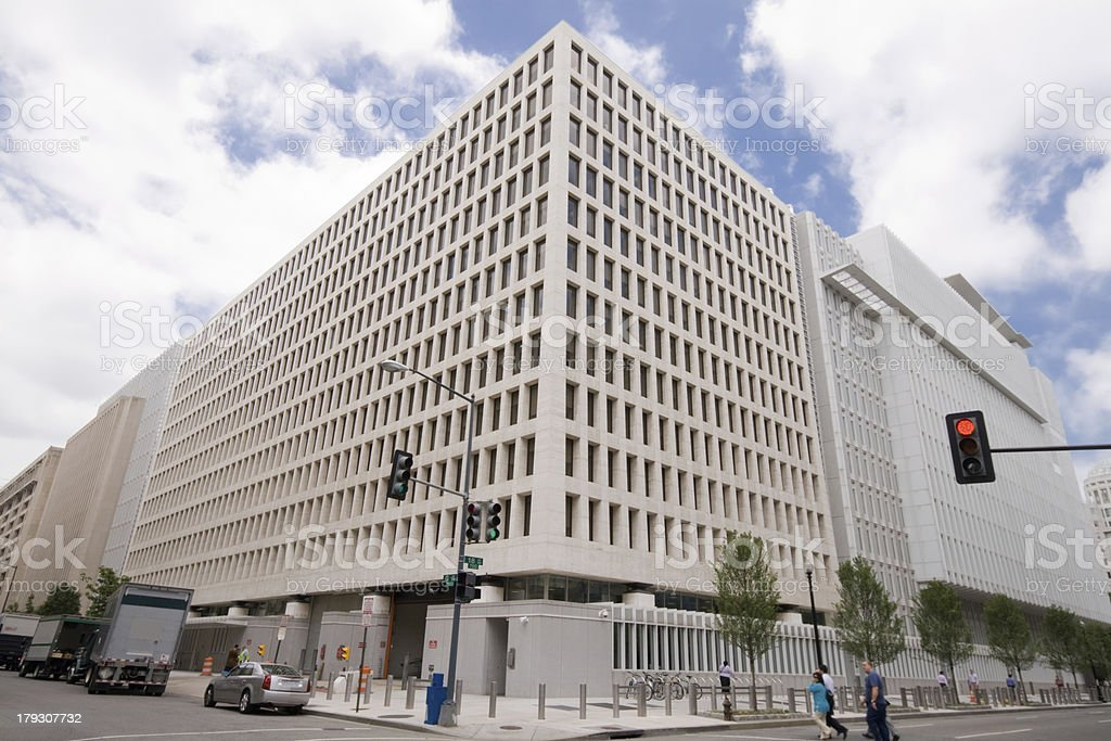Modern World Bank Office Building in Washington DC, USA stock photo