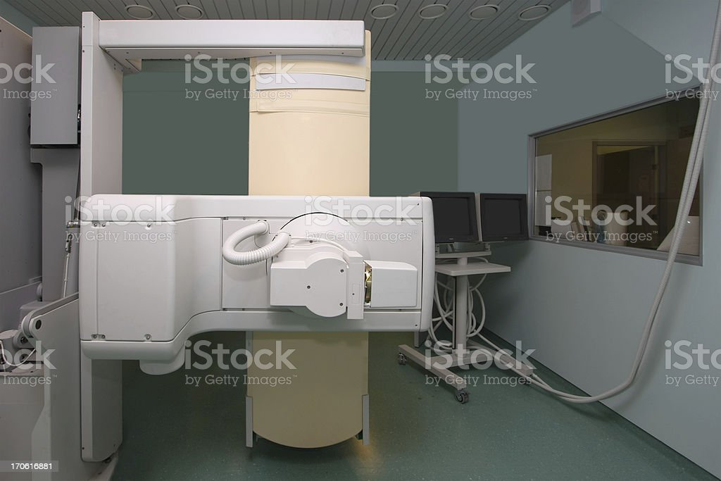 Modern X-ray machine stock photo
