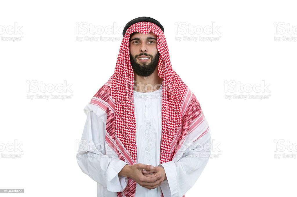 modern young arabian man looking serious stock photo