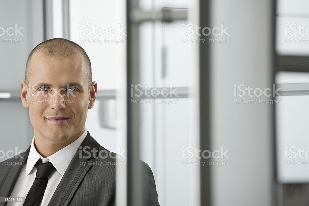 Modern young businessman royalty-free stock photo