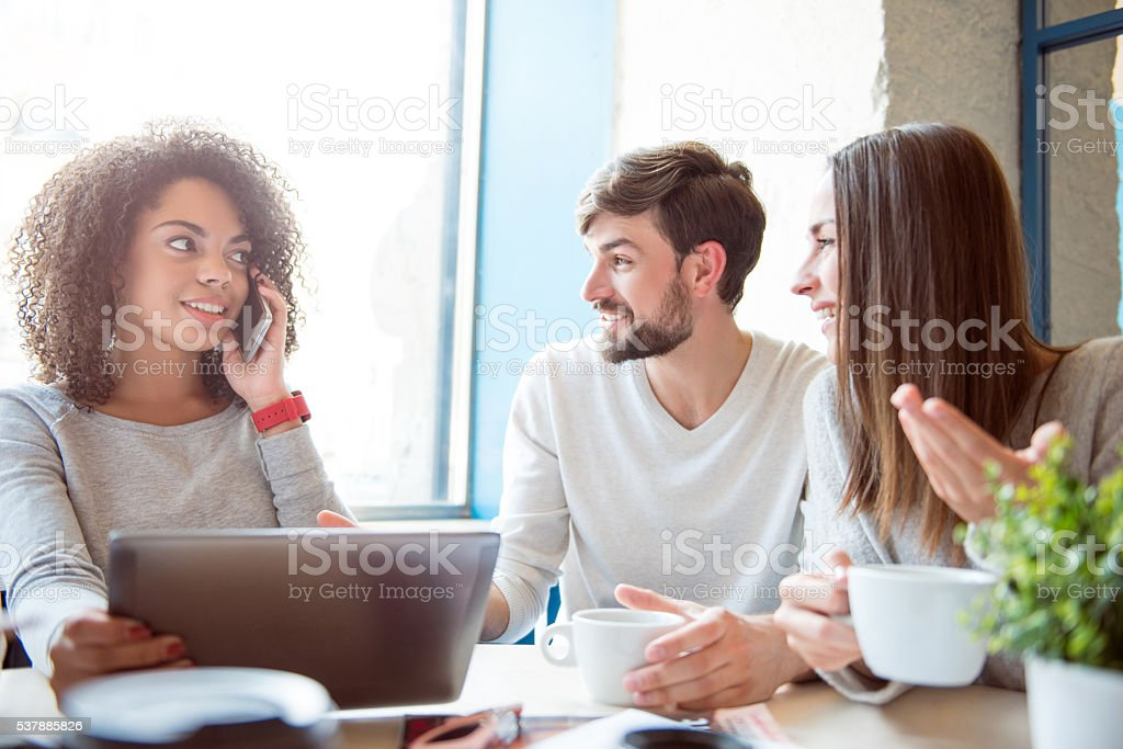 Modern young people stock photo