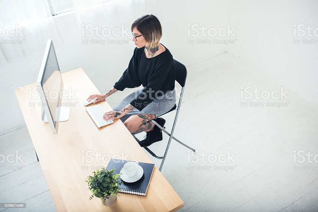 Modern Young Professional Woman stock photo
