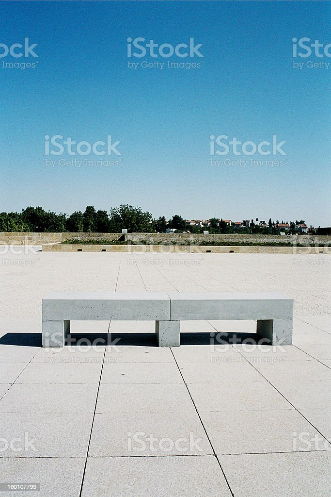 Modern-Bauhaus Bench royalty-free stock photo
