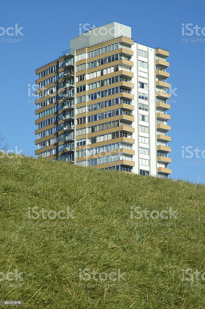 Moderninst apartment building in Vancouver royalty-free stock photo