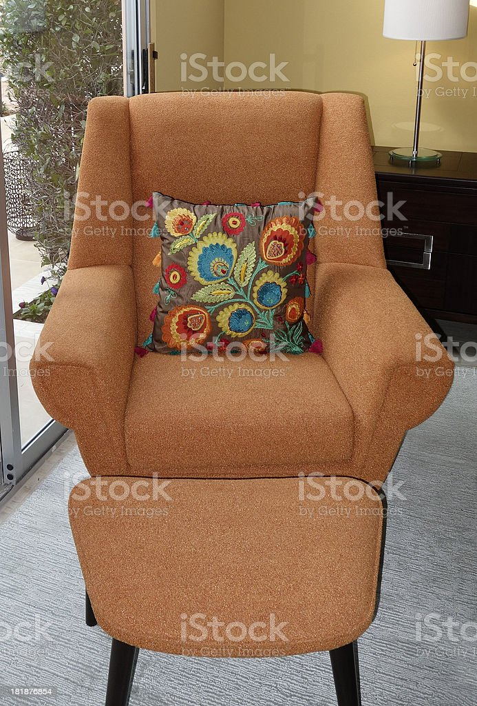 Modernism Chair And Cushion stock photo