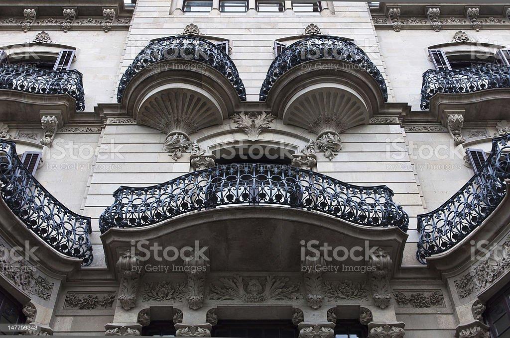 Modernist building facade stock photo