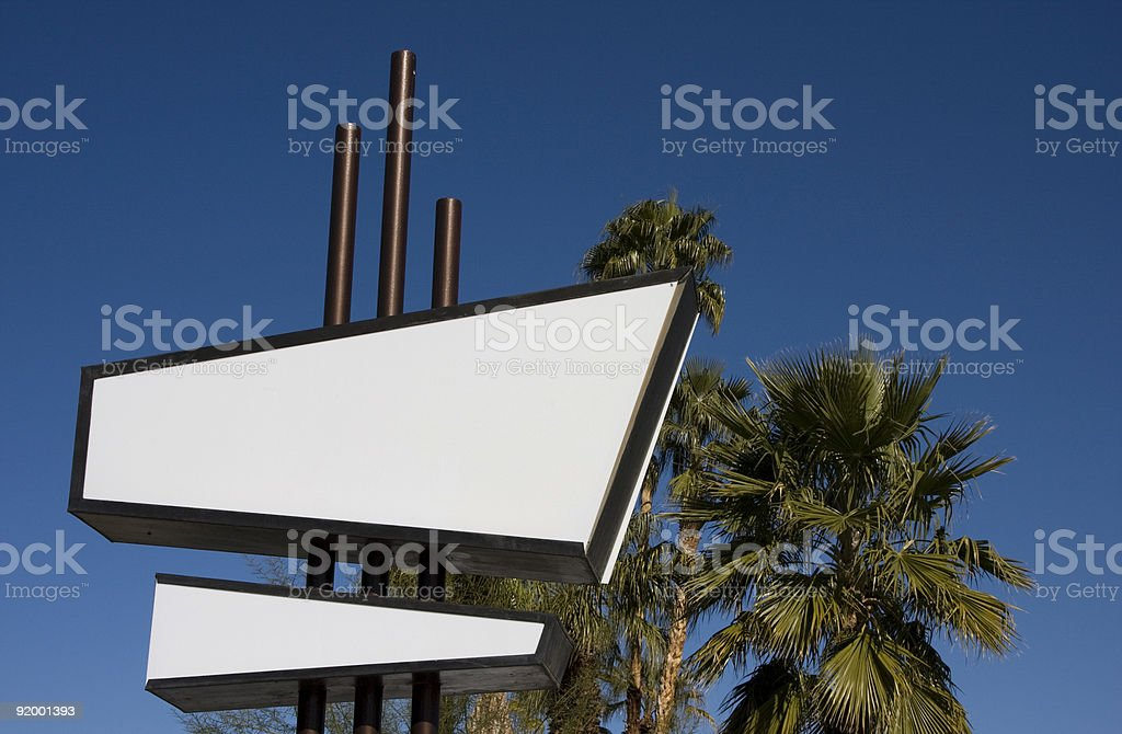 Modernist Sign stock photo