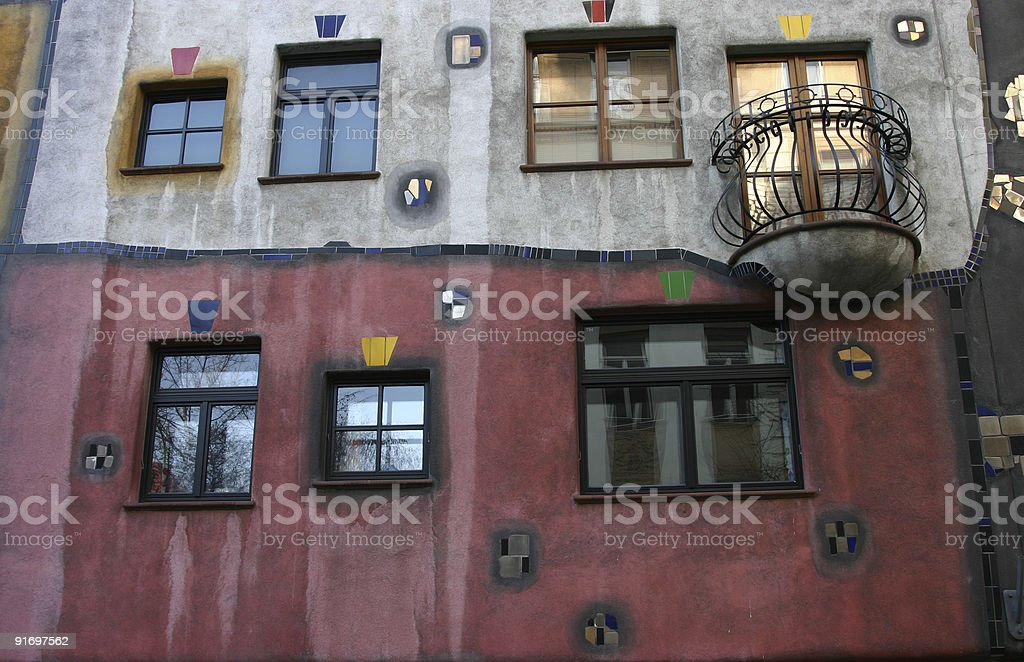 modernist style house royalty-free stock photo