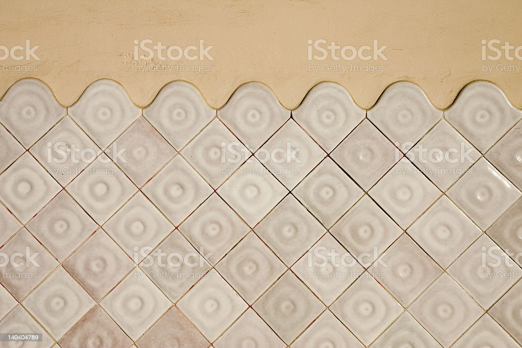Modernist tile wall royalty-free stock photo