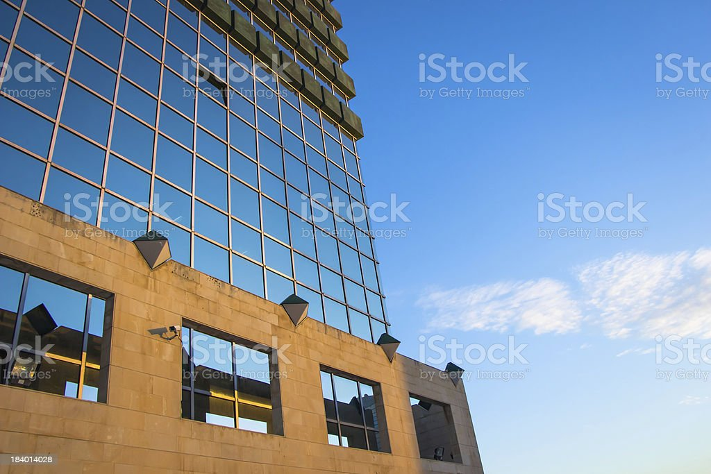 Modernity merging with nature royalty-free stock photo