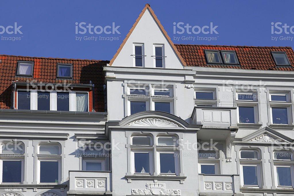 modernized art nouveau townhouse royalty-free stock photo