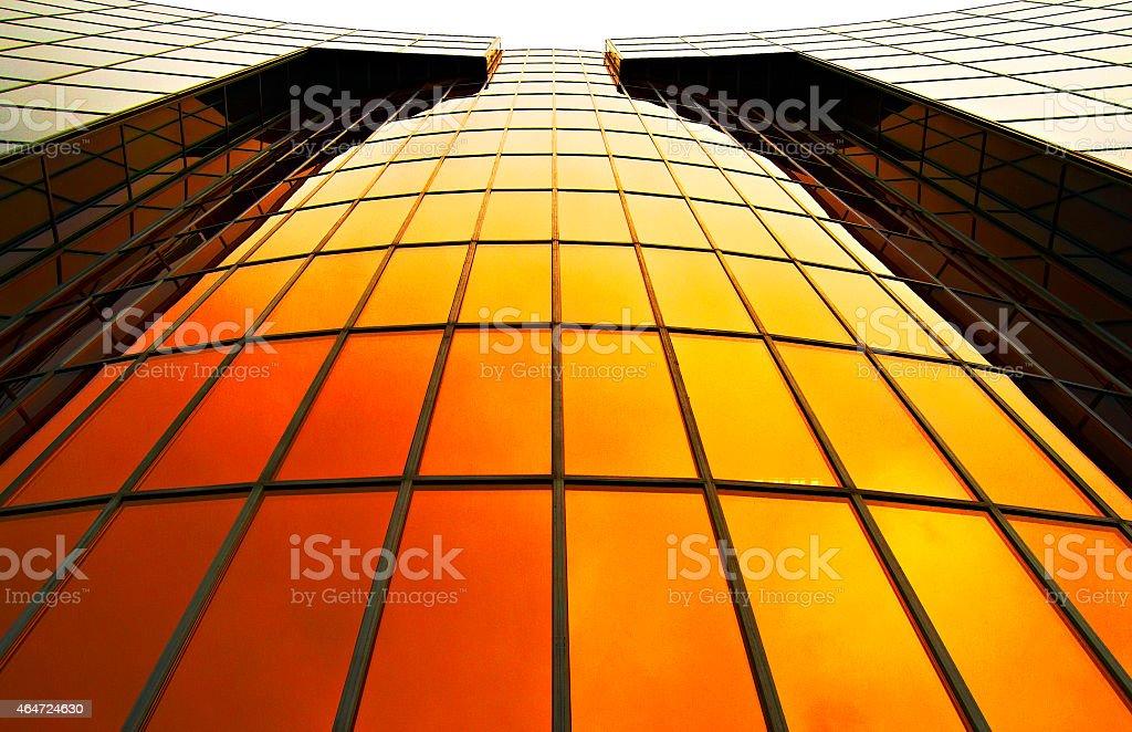 Moderno edificio en Pamplona, Navarra stock photo