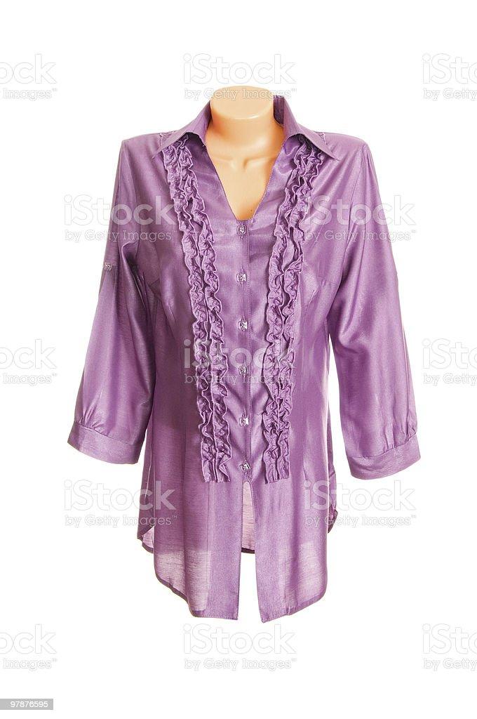 Modern,stylish blouse on a white. royalty-free stock photo