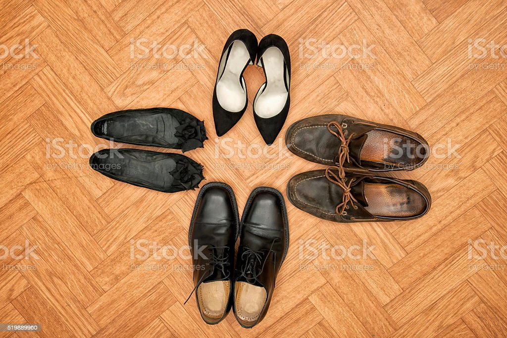 Modest and luxurious shoes stock photo
