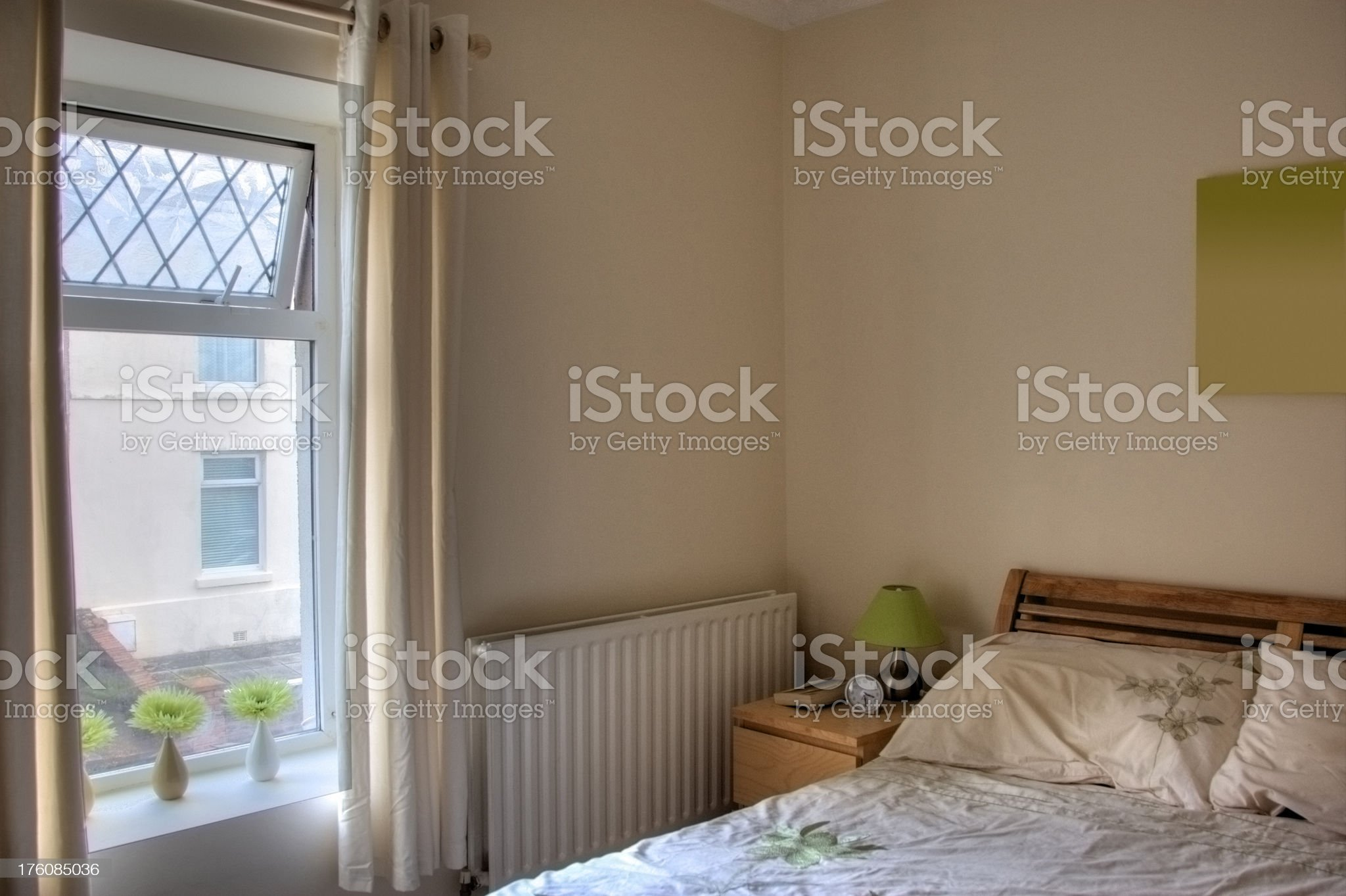Modest bedroom in UK house royalty-free stock photo