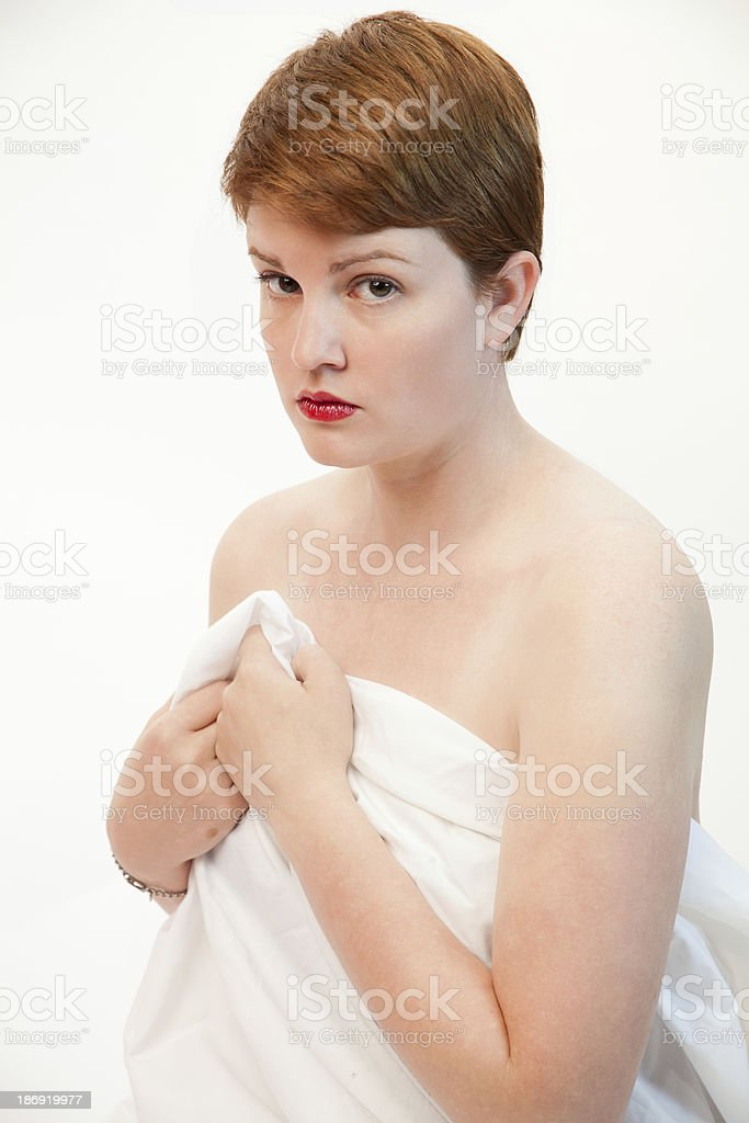 Modest Female royalty-free stock photo